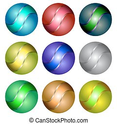 Set of Different Spheres