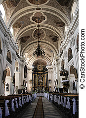 interior of castle - nice interior of the church before...