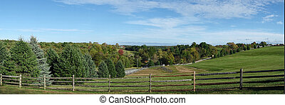 Woodstock Music Festival Site - A sweeping view of what was...