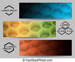 Hexagon Banner Set