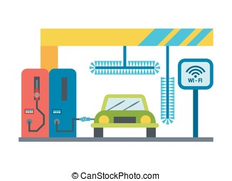 Vector car service icons - Vector car service, vehicle...