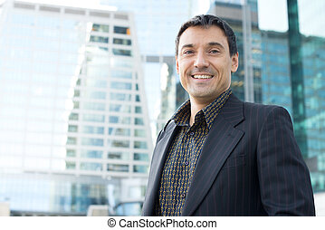 handsome young businessman outdoor - Portrait of an handsome...