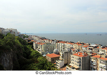 Izmir City - Izmir view is from Historical Elevator Asansor...