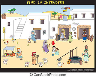 game for children - Game for children: find ten intruders