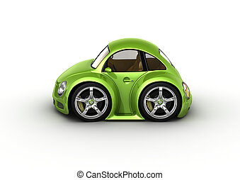 Green car - Fancy 3d isolated cars series