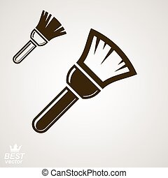 Stylized vector repair instrument – simple paint brush for...