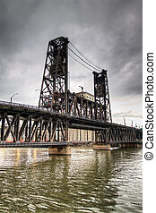 Steel Bridge Portland Oregon - Steel Bridge Over Willamette...