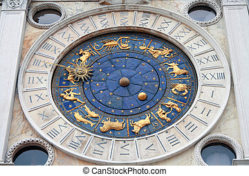 Italy, Venice: Clock Tower - St Mark\'s Clocktower, situated...
