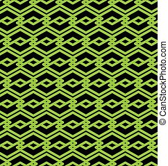 Abstract seamless pattern - Black and green abstract...