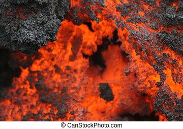 Lava from volcano Pacaya