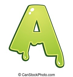 Slimy font type letter A