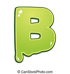 Slimy font type letter B