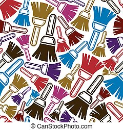 Seamless vector pattern with colorful renovation and repair...