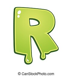 Slimy font type letter R