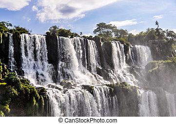 Upper part of Iguazu Falls, Argentina