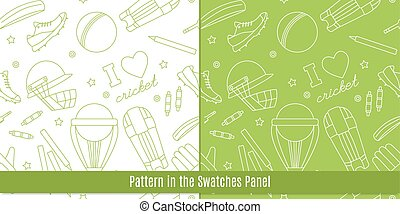 Cricket game vector concept. - Seamless pattern with cricket...