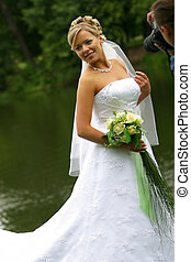 Bride and photographer - The beautiful bride and the...