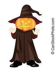Jack O Lantern - Halloween pumpkin, funny cartoon...