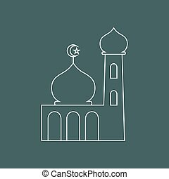 Mosque - Simple graphic of a mosque