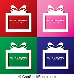 Merry Christmas present - Collection christmas gift boxes...