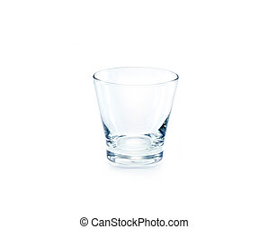Empty drinking glass on white background