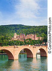 Alte Brucke bridge and Heidelberg castle view - Alte Brucke...