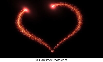 Red heart - Particles in heart form