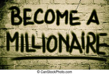 Become A Millionaire Concept