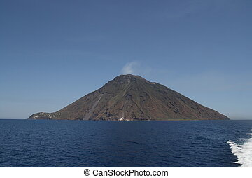 Stromboli Island - Viwe from the ferry