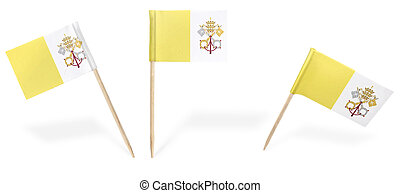 Various cocktail flags of Vatican City isolated on...