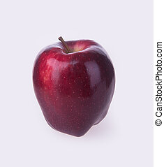 red apple on a background