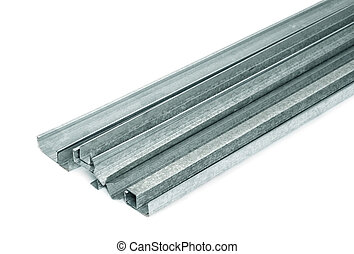 Metal profiles - Close up of metal drywall profiles