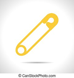 Vector tailor sing - Vector flat color tailor pin icon on...