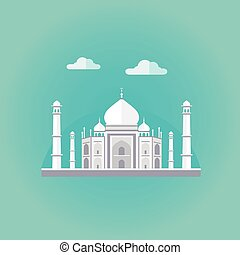 Taj Mahal Vector Illustration - Vector illustration of Taj...