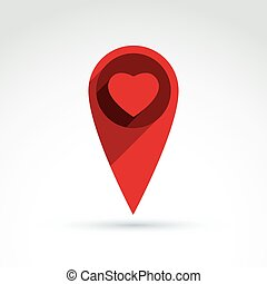 Heart icon, vector conceptual stylish symbol for your design.