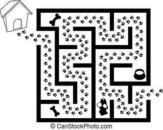 labirinto, Quebra-cabeça, Animal...