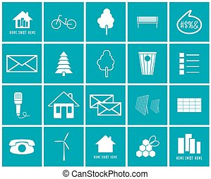 Set of vector icons of the environment