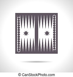 Sport illustration - Vector flat color backgammon table with...