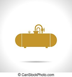 Vector color flat cistern icon - Vector flat color cistern...