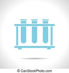 test-tube - Vector flat color test-tube icon on white...