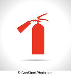 flat fire extinguisher - Vector flat color fire extinguisher...
