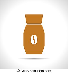 Vector color flat coffee bottle template - Vector flat color...