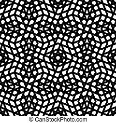 Monochrome messy seamless pattern with parallel lines, black...