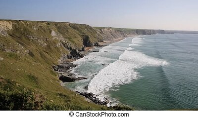 North Cornwall coastline Watergate - North Cornwall...