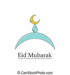 symbol of the Muslim Eid Mubarak.