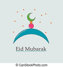 symbol of the Muslim Eid Mubarak