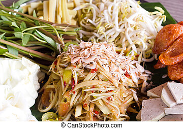Som Tum, Thai papaya salad Traditional Thai food