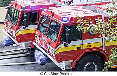 Fireman truck