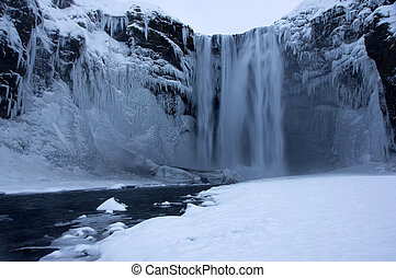 Seljalandsfoss, Iceland - The Seljalandsfoss is a waterfall...