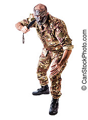 Trooper - a soldier wearing camouflege clothing and army...